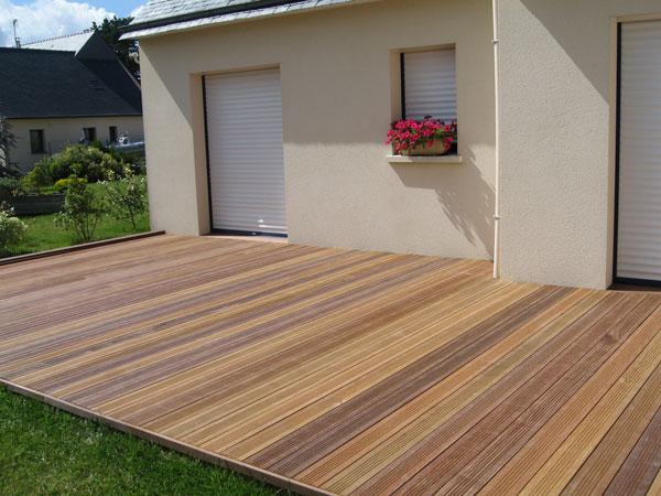 terrasse en bois pose lames